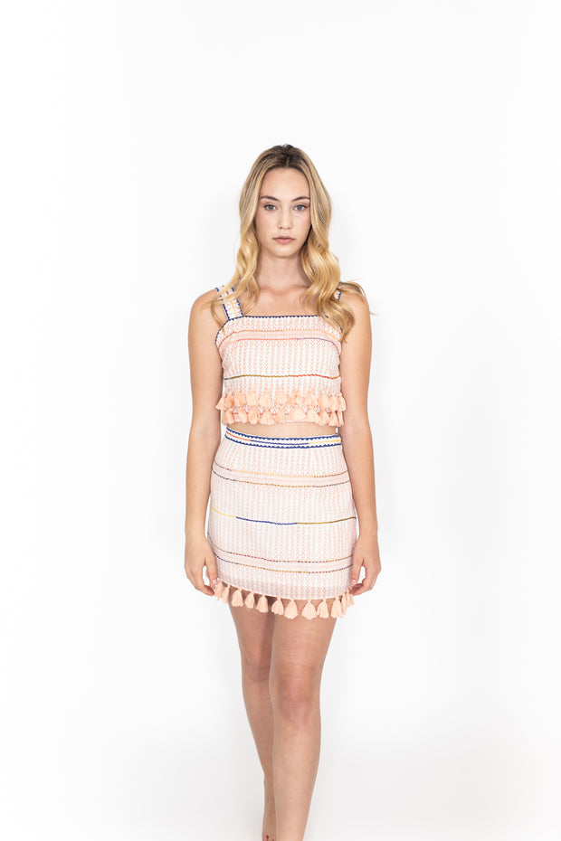 Saylor Tassel Mini Skirt