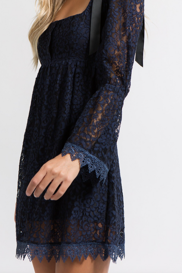 Cami Ruched Dress Navy