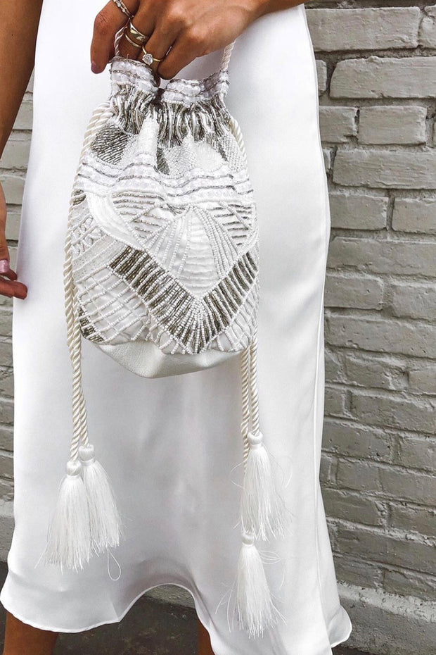 Sequin Fringe Purse