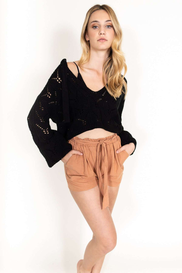 V-Neck Crop Sweater