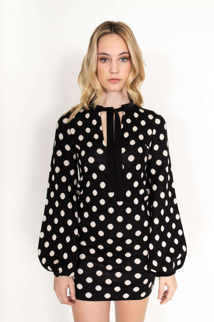 Polka Dot Sweater Dress