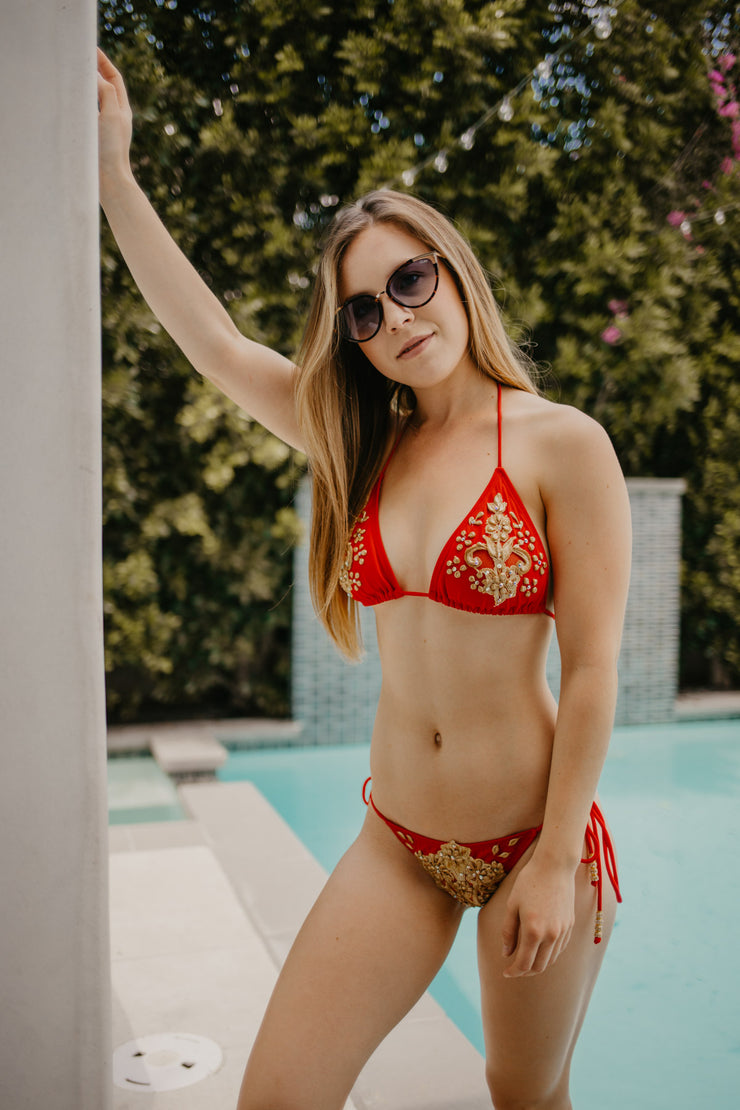Red & Gold Bikini