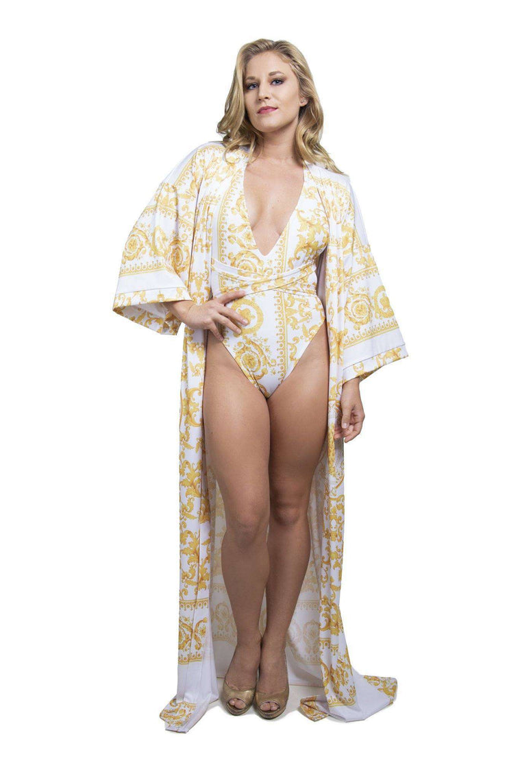 Yellow Coverup Robe