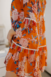 Taj Floral Orange Tunic