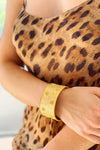 Golden Crystal Cuff Bracelet
