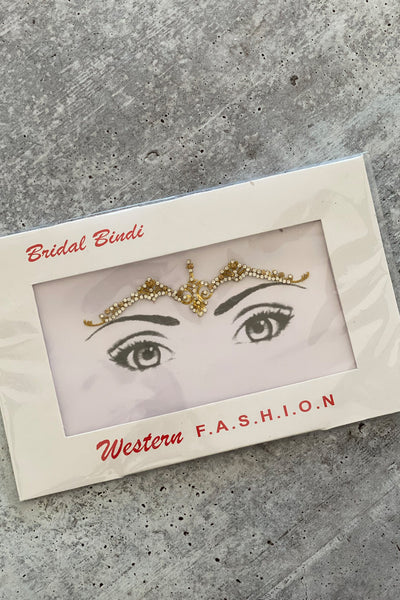 Golden Bindi Face Gems