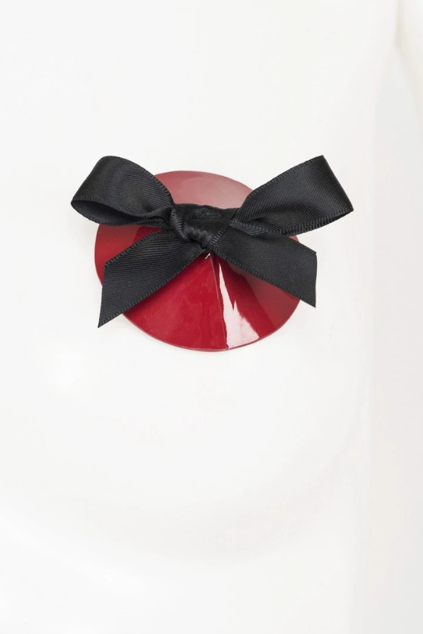 Black & Red Bow Pasties