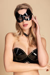 Leather Kitten Mask