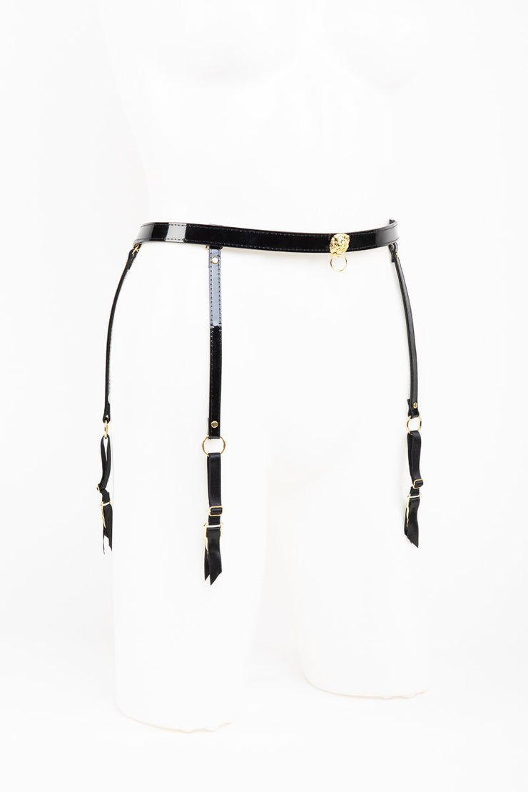 Patent Leather Garter Belt