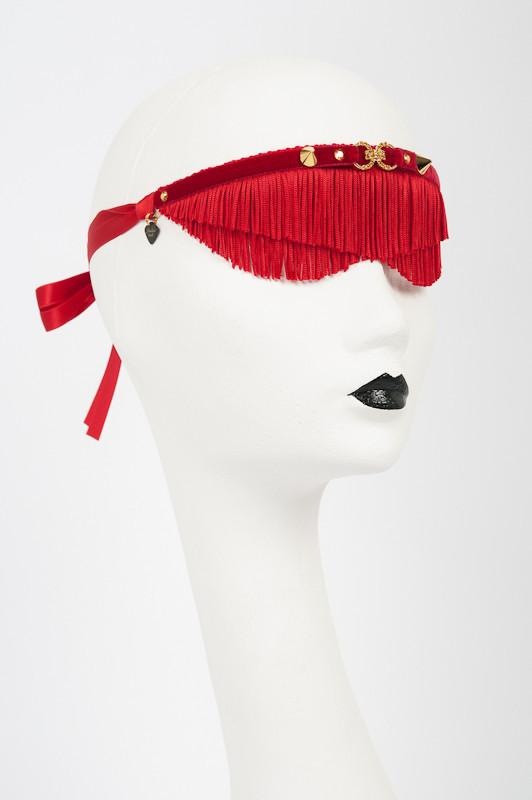 Rouge Fringe Blindfold