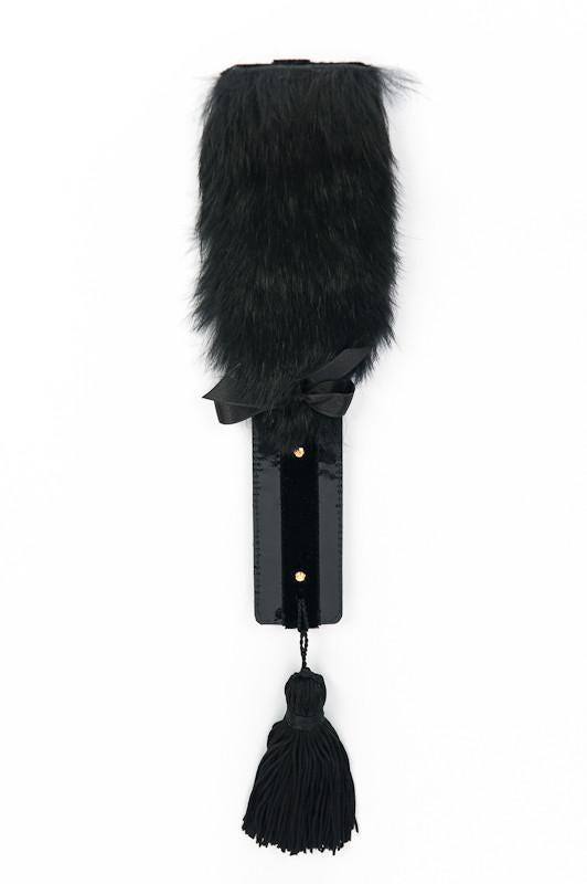 Black Leather & Fur Paddle