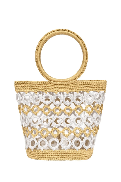 White & Gold Crochet Purse