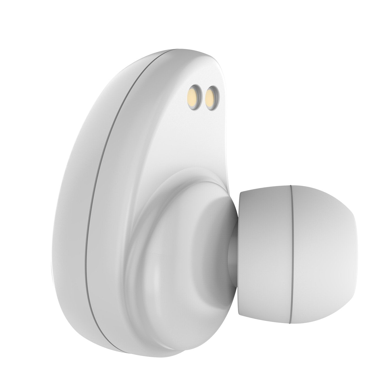 PunkBuds True Wireless Earbuds, Mini Bluetooth Headphones W/ Charging Case & Built-In Noise Cancelling Mic. [White]