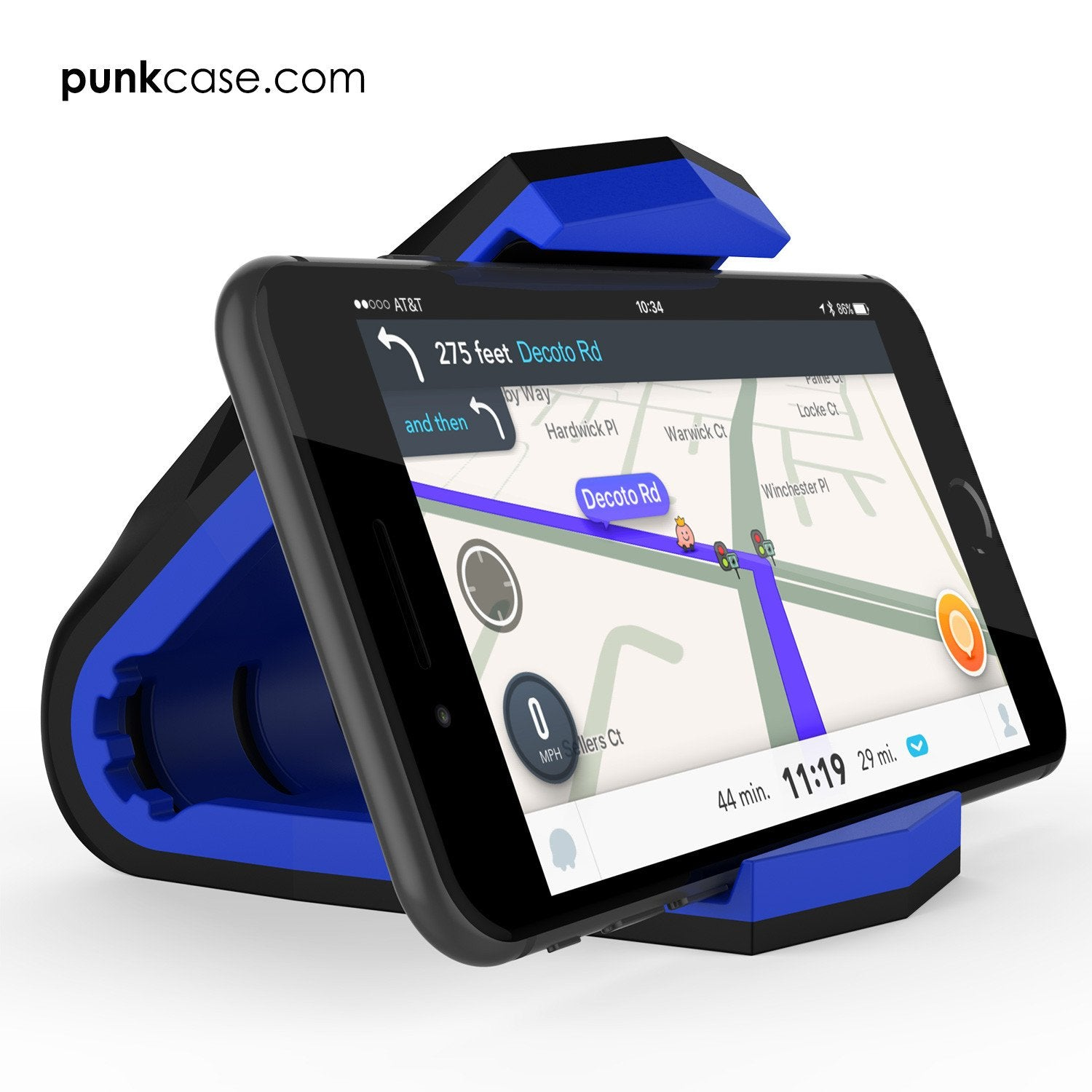 Viper Car Phone Holder Blue, Universal Dashboard Mount for all Smartphones