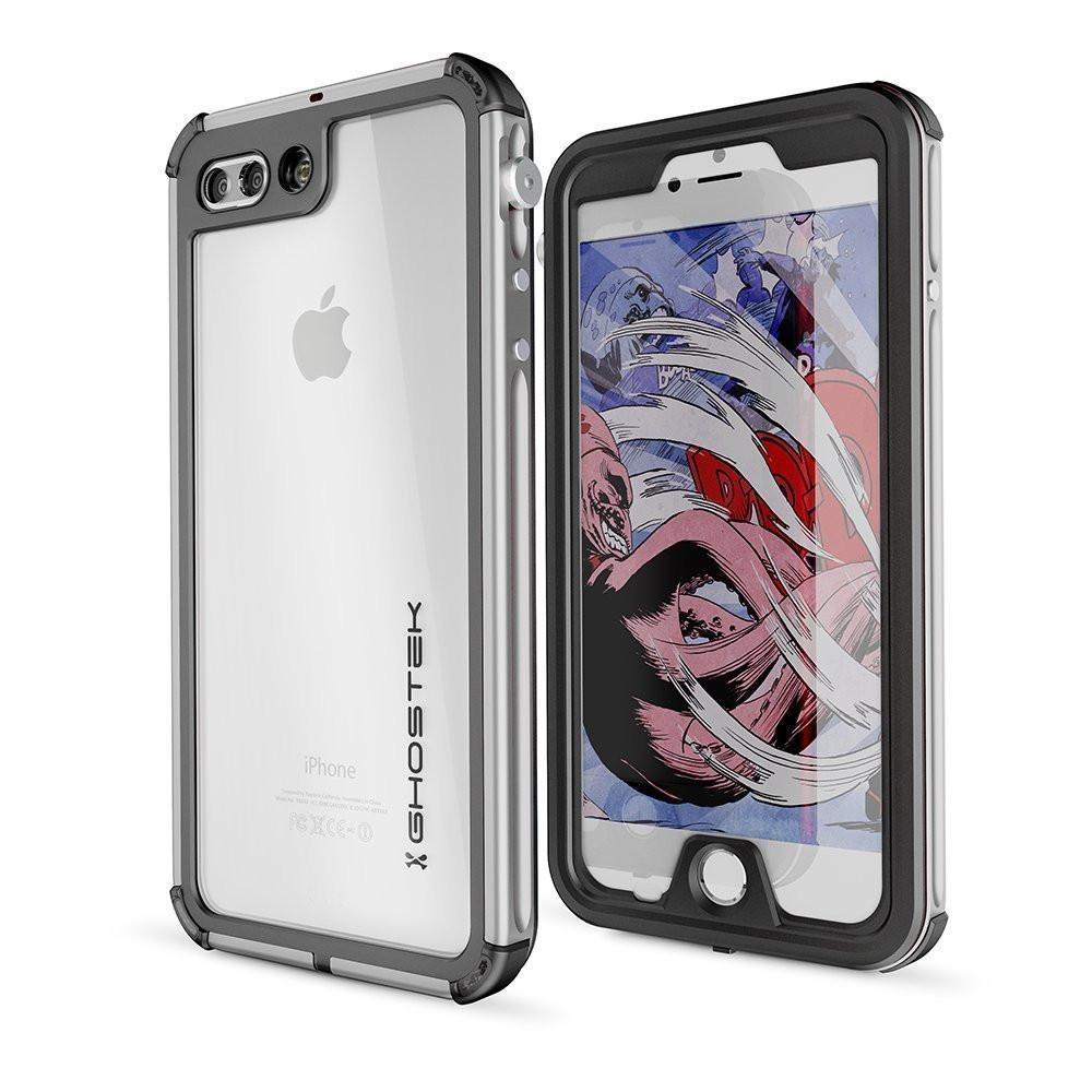 iPhone 8+ Plus Waterproof Case, Ghostek® Atomic 3.0 Silver Series | Underwater | Touch-ID