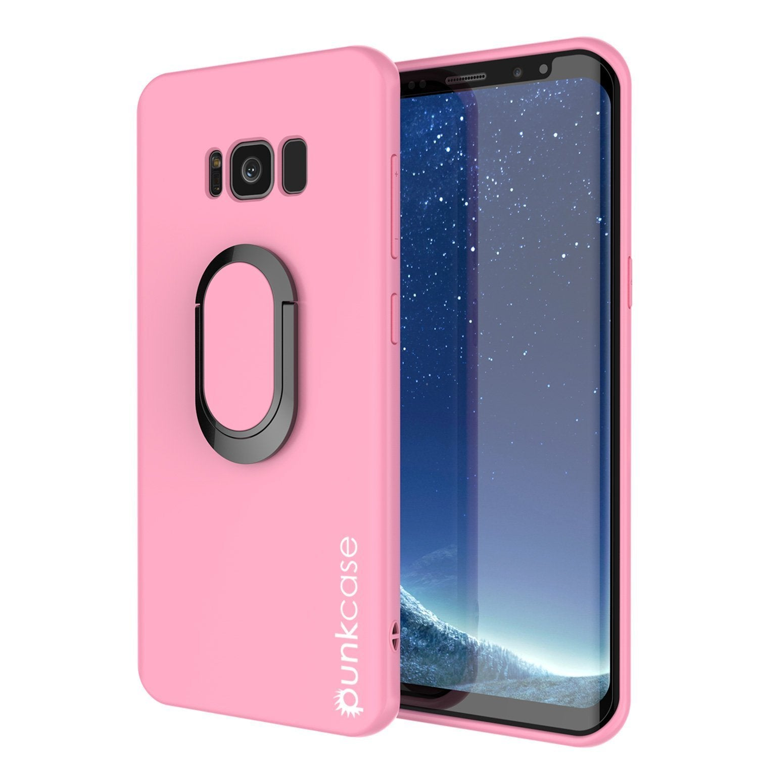 Galaxy S8 PLUS, Punkcase Magnetix Screen Protector Slim Case [Pink]