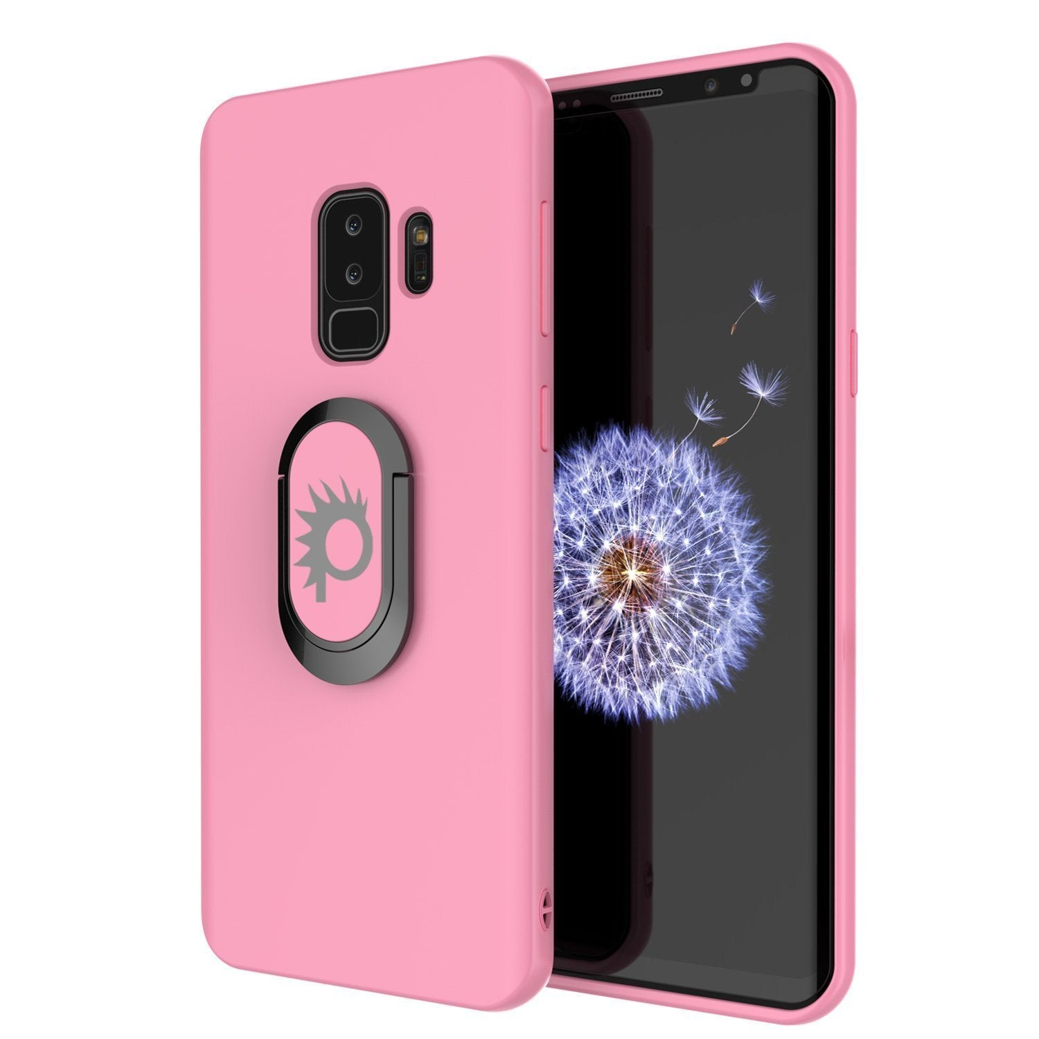 Galaxy S10+ Plus, Punkcase Magnetix Protective TPU Cover W/ Kickstand, Sceen Protector[Pink]
