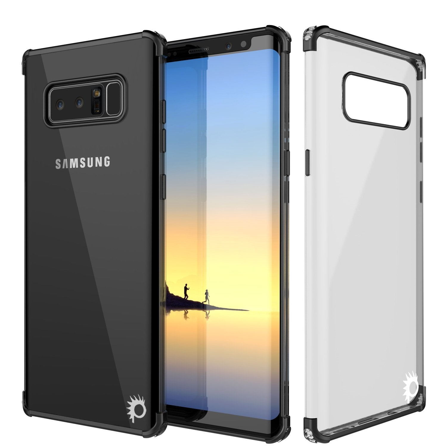 Galaxy Note 8 Punkcase Slim-Fit Case W/ Screen Protector Cover [Black]