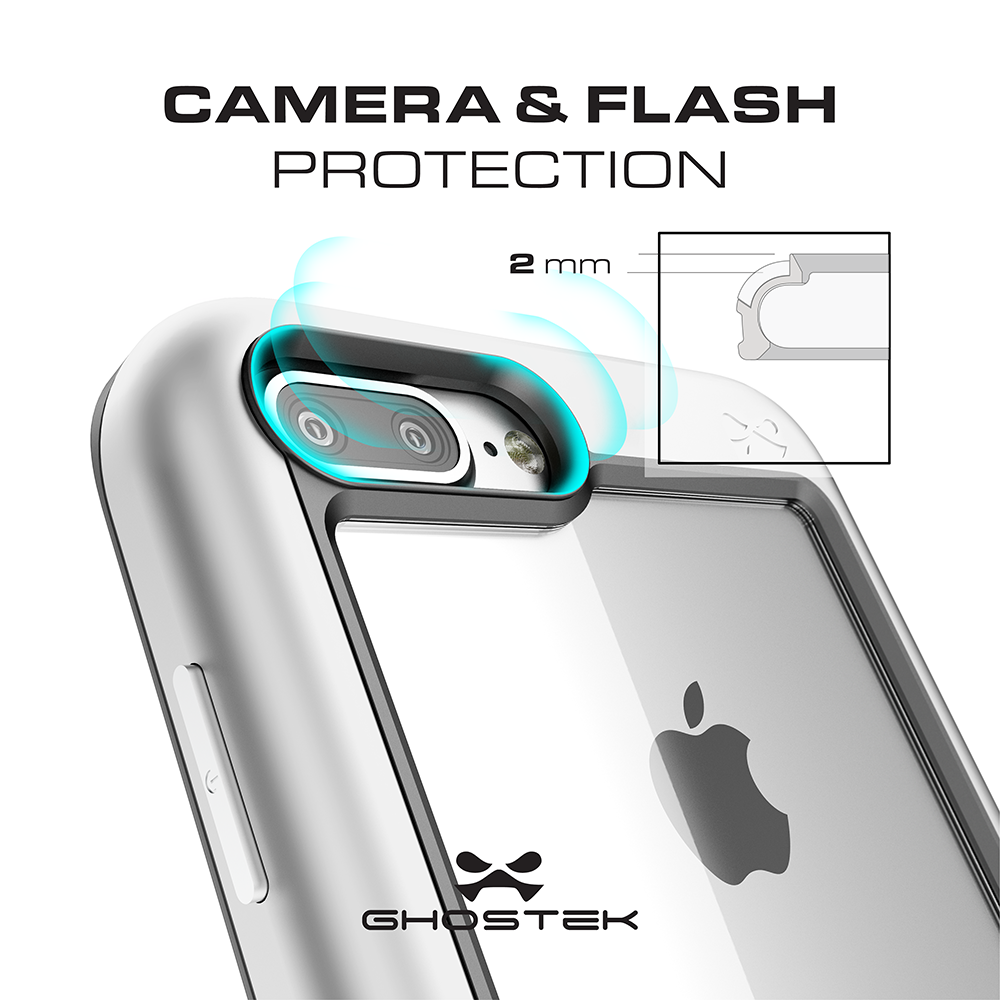 iPhone 8+ Plus Waterproof Case, Ghostek® Atomic Series for Apple iPhone  8+ Plus | Underwater | Shockproof | Dirt-proof | Snow-proof | Aluminum Frame | Adventure Ready | Ultra Fit | Swimming [BLACK]