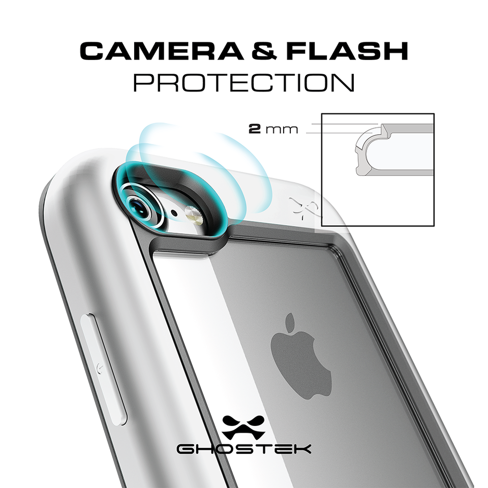 iPhone 8 Waterproof Case, Ghostek® Atomic Series Swimming [Black]