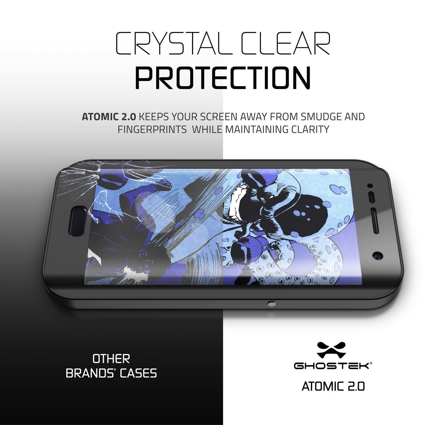 Galaxy S7 EDGE Waterproof Case, Ghostek® Atomic 2.0 Black  Shock/Dirt/Snow Proof | Lifetime Warranty