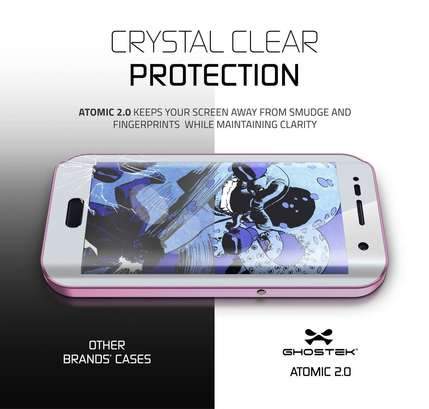 Galaxy S7 EDGE Waterproof Case, Ghostek Atomic 2.0 Pink Shock/Dirt/Snow Proof | Lifetime Warranty