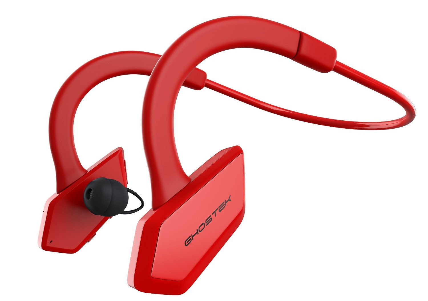 Headphones Bluetooth, Ghostek Earblades Red Sweatproof Bluetooth 4.1 Headphones Water Resistant