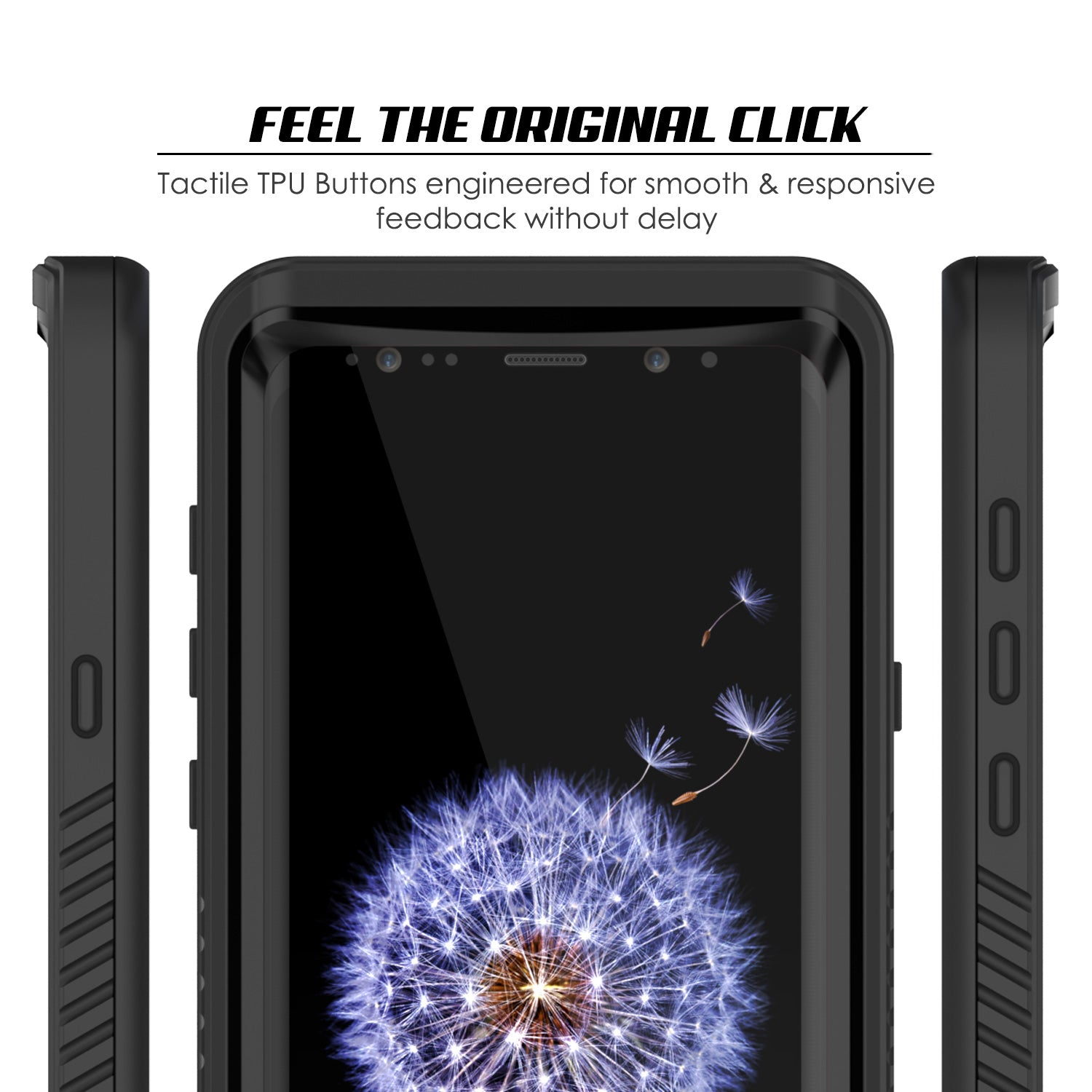 Galaxy S9 Water/Shock Proof Slim Fit Case | PunkCase StudStar [Black]