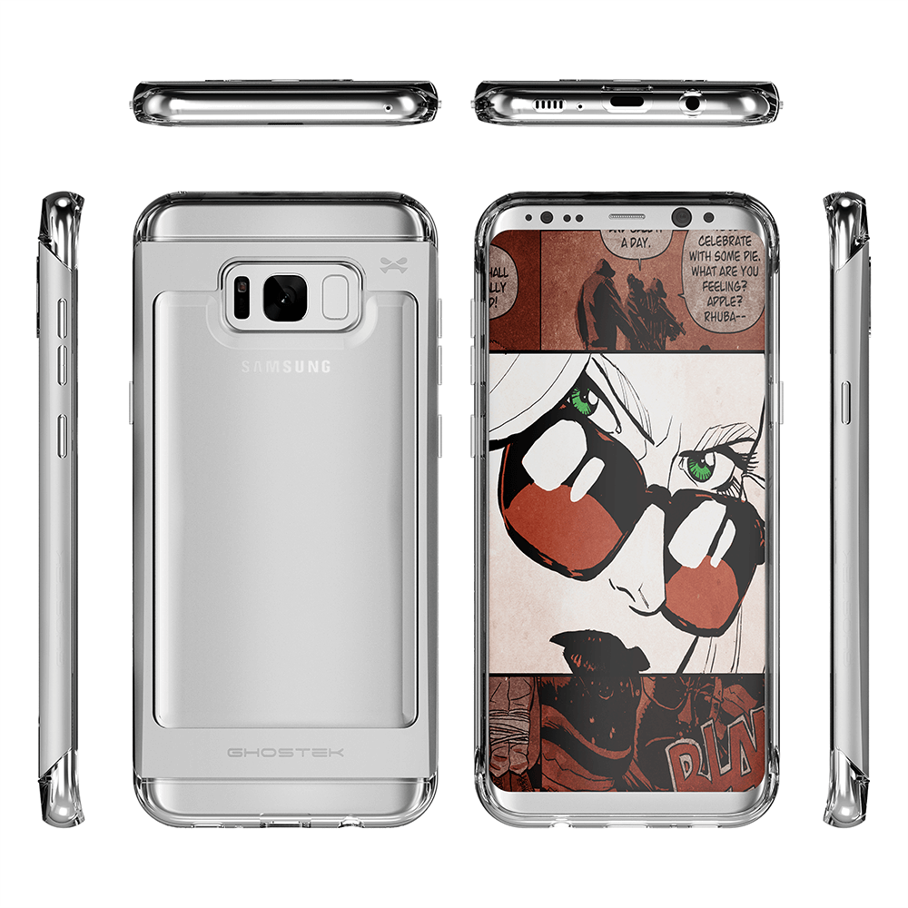 Galaxy S8 Case, Ghostek® 2.0 Silver Series w/ Explosion-Proof Screen Protector | Aluminum Frame