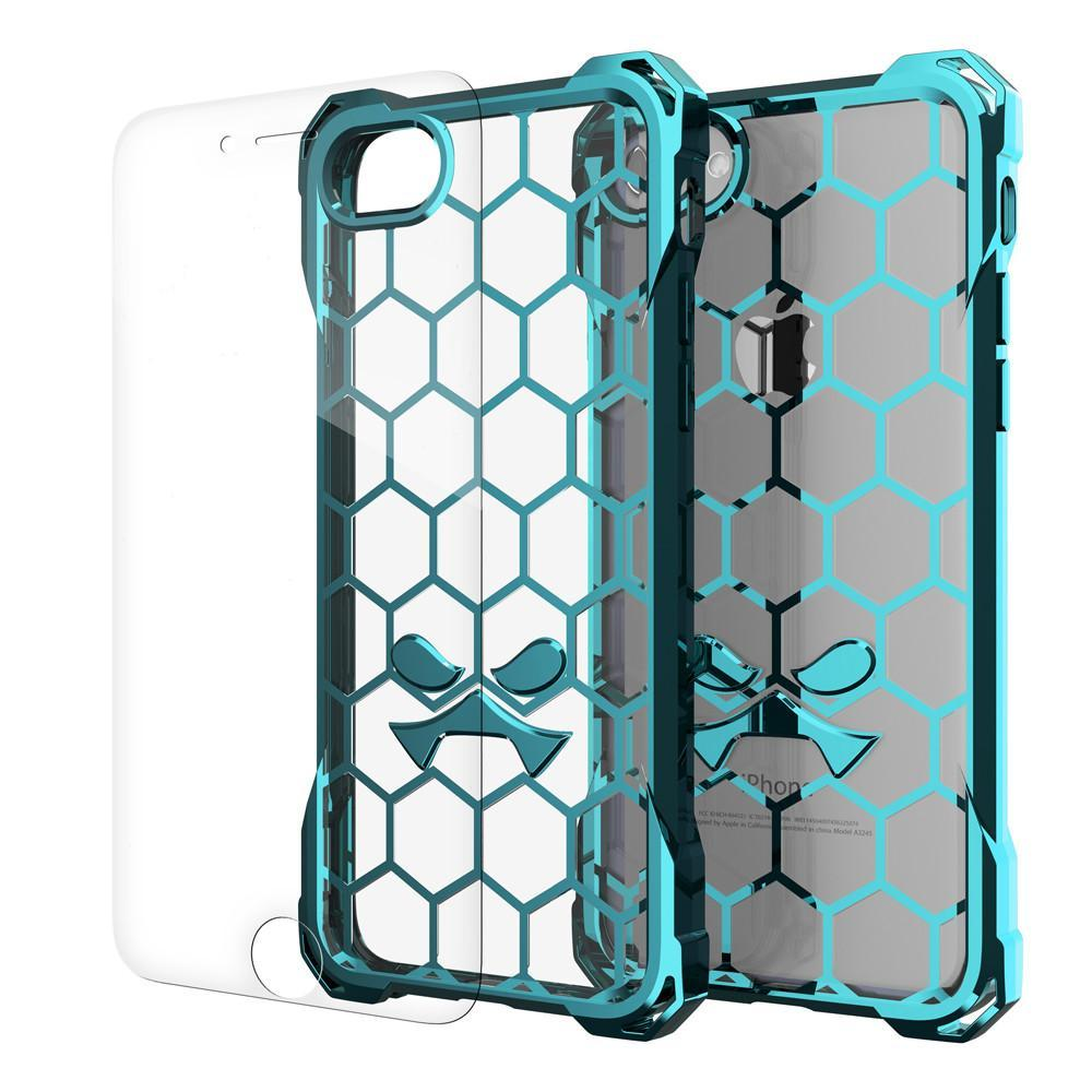 iPhone 8 Case, Ghostek® Covert Teal Series for Apple iPhone 7Premium Impact Protective Armor Case Cover | Clear TPU | Lifetime Warranty Exchange | Explosion-Proof Screen Protector | Ultra Fit (Teal)