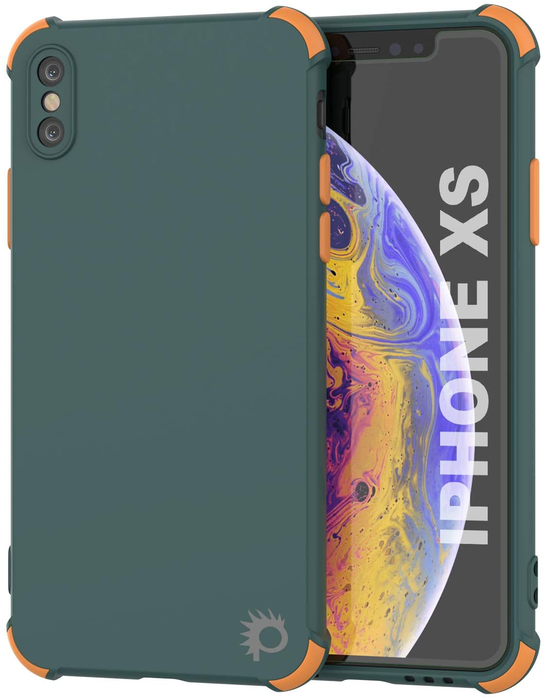 Punkcase Protective & Lightweight TPU Case [Sunshine Series] for iPhone XS [Dark Green]