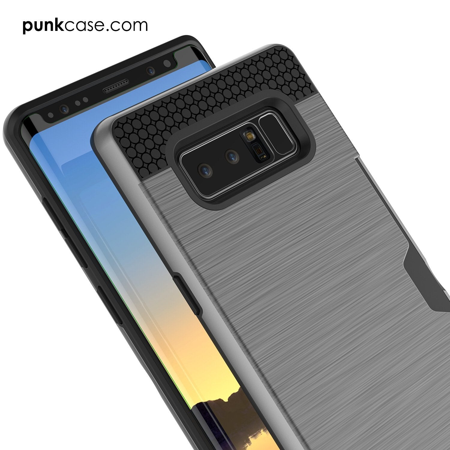Galaxy Note 8 Case, PUNKcase [SLOT Series] Slim Fit  Samsung Note 8  [Grey]