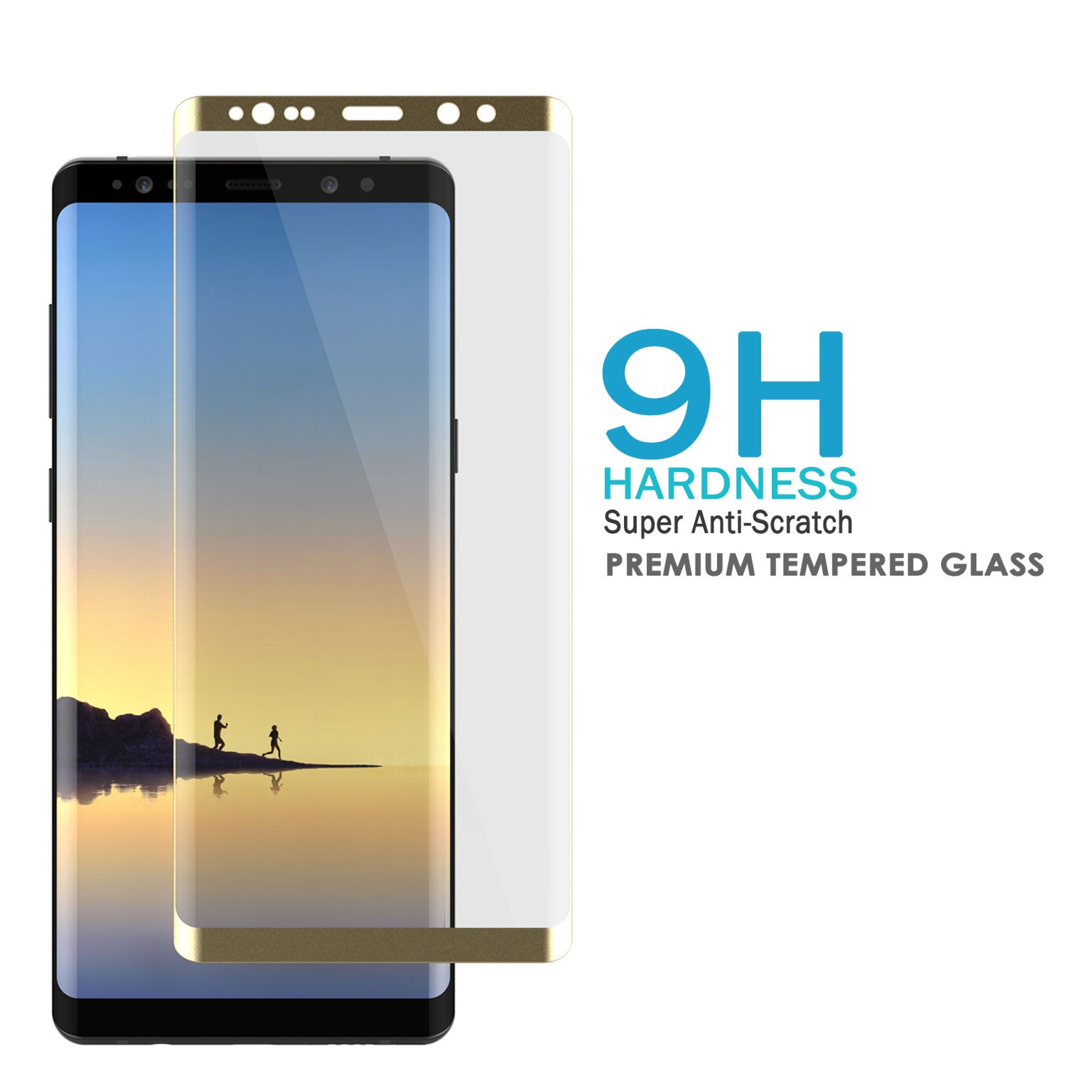 Galaxy S8+ Plus  Gold Punkcase Glass SHIELD Tempered Glass Screen Protector 0.33mm Thick 9H Glass