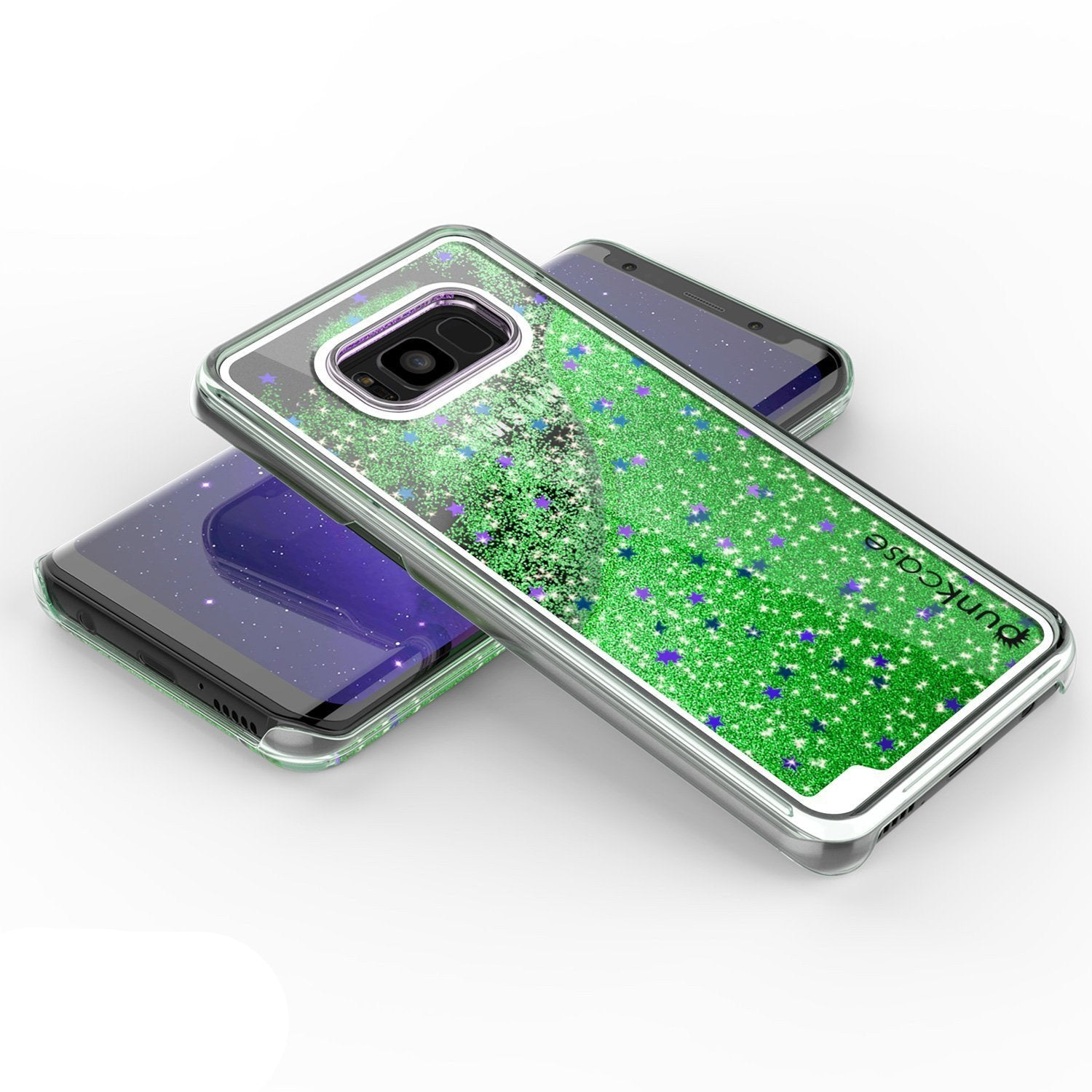 Galaxy S8 Plus Dual-Layer Screen Protective Glitter Case [Green]