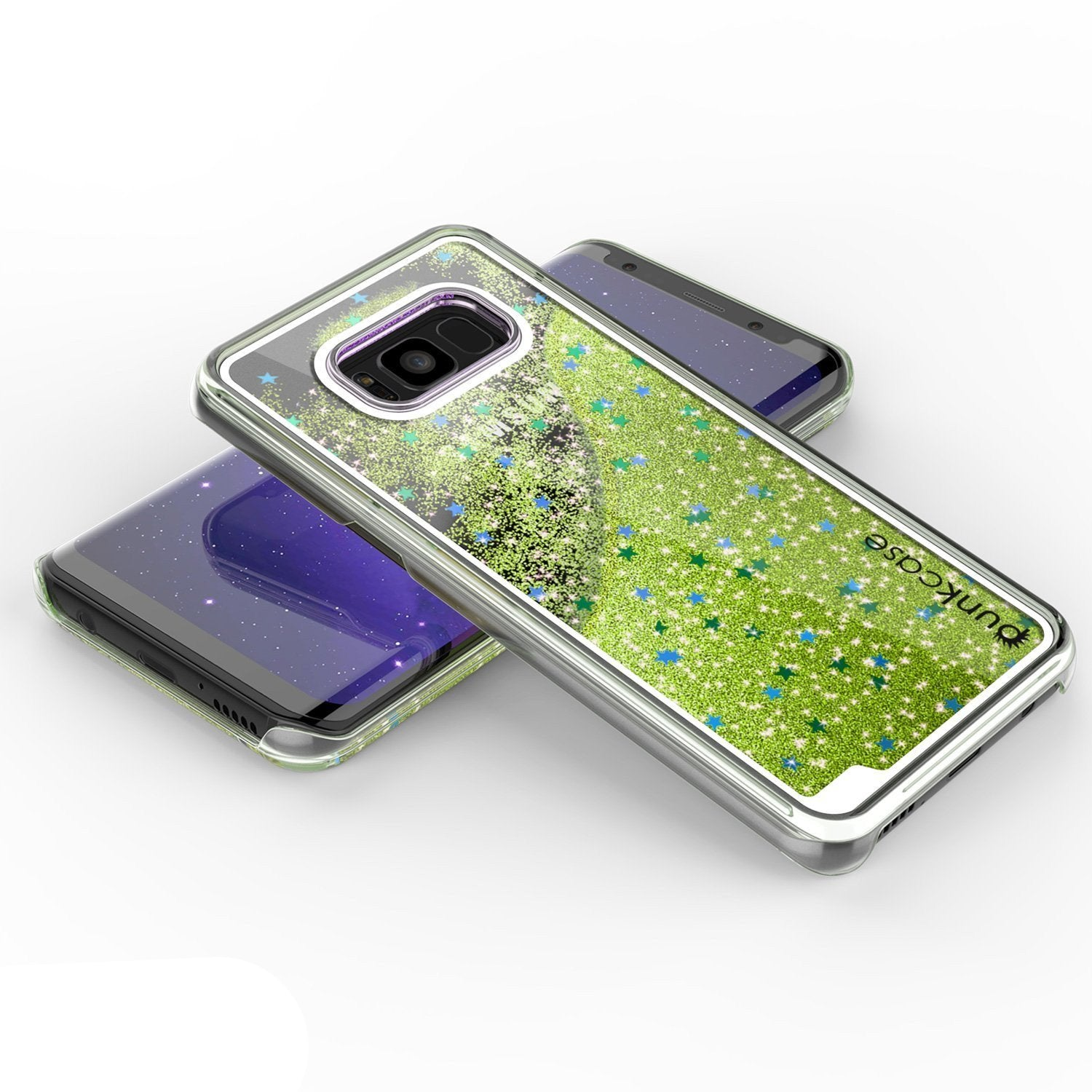 Galaxy S8 Plus Dual-Layer Screen Protective Glitter Case [Light Green]