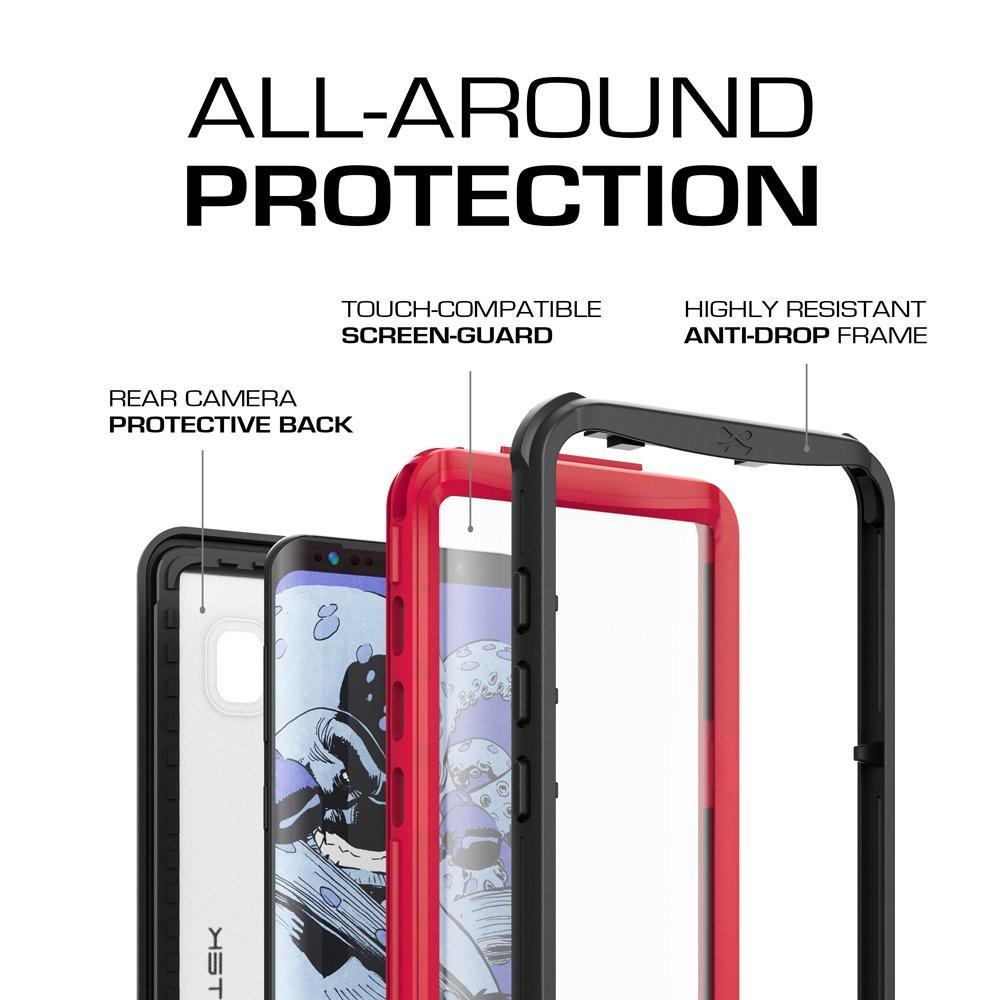 Galaxy S8 Plus Waterproof Shock/Snow Swimming Proof Case [Red]