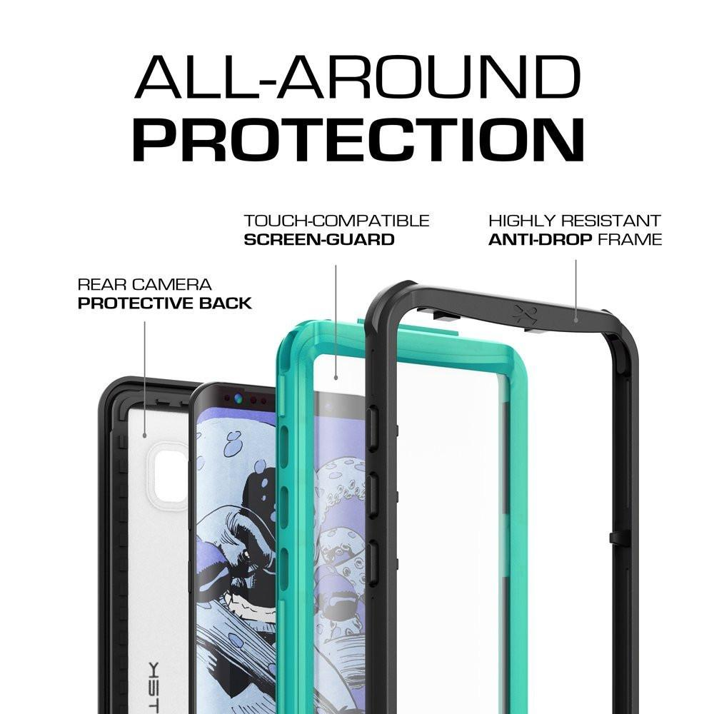 Galaxy S8 Plus Shock/Dirt/Snow W/ Underwater Proof Slim Case [Teal]