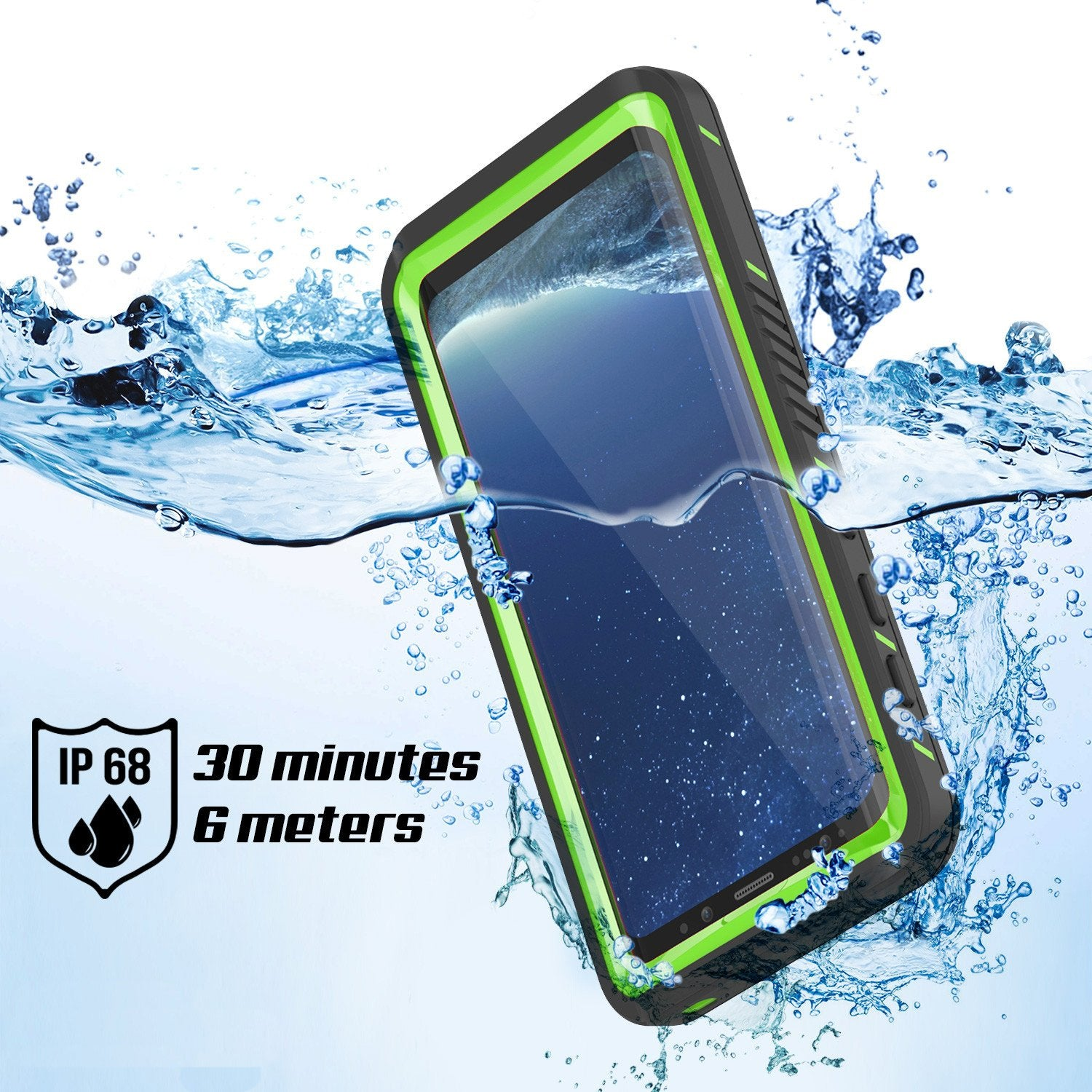 Galaxy S8 Case, Punkcase [Extreme Series] Armor Green Cover