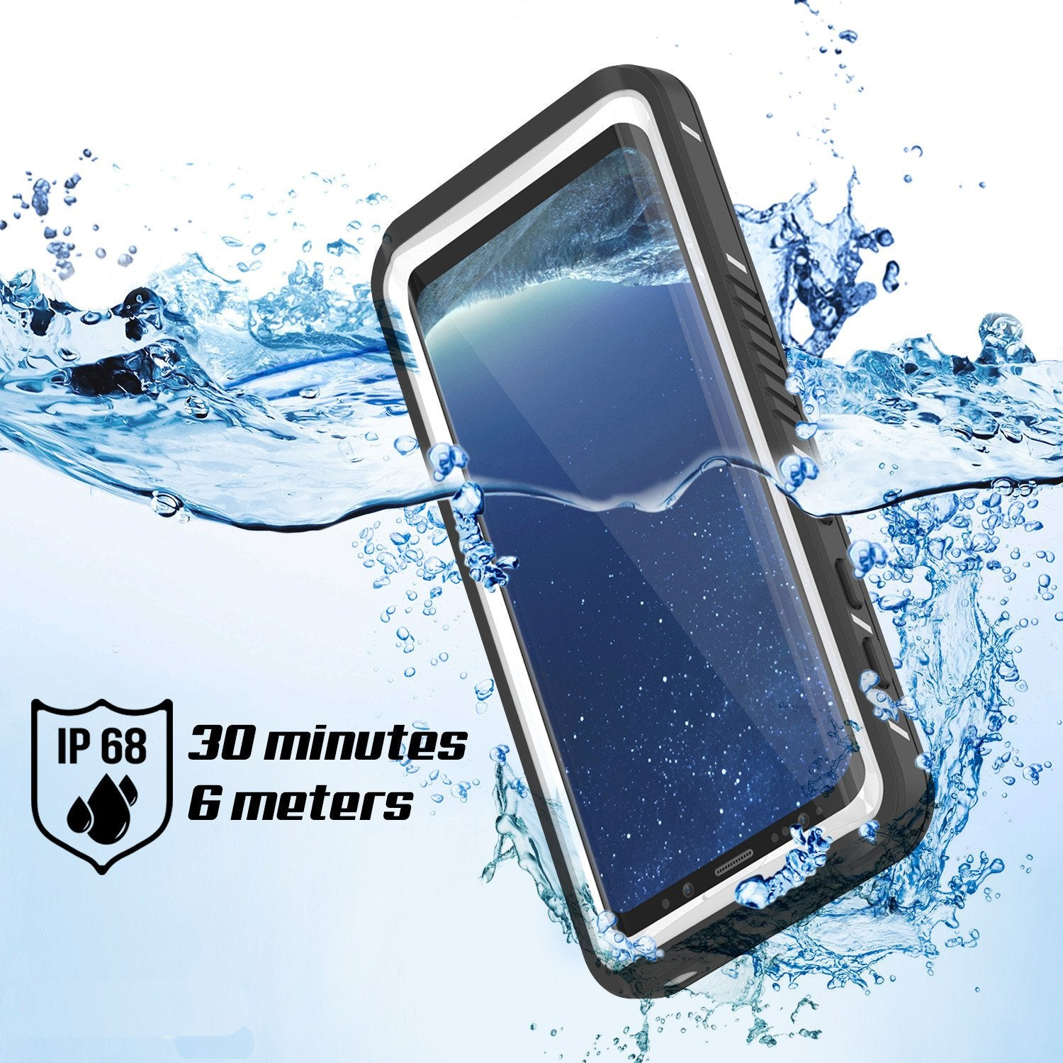 Galaxy S8 Plus Certified Water/Shock/Dirt/Snow Proof Slim Case [White]