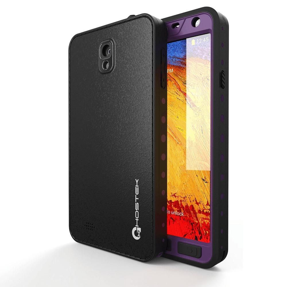 Ghostek Atomic Samsung Galaxy Note 3 Purple Water/Shock/Dirt/Snow Proof | Lifetime Warranty