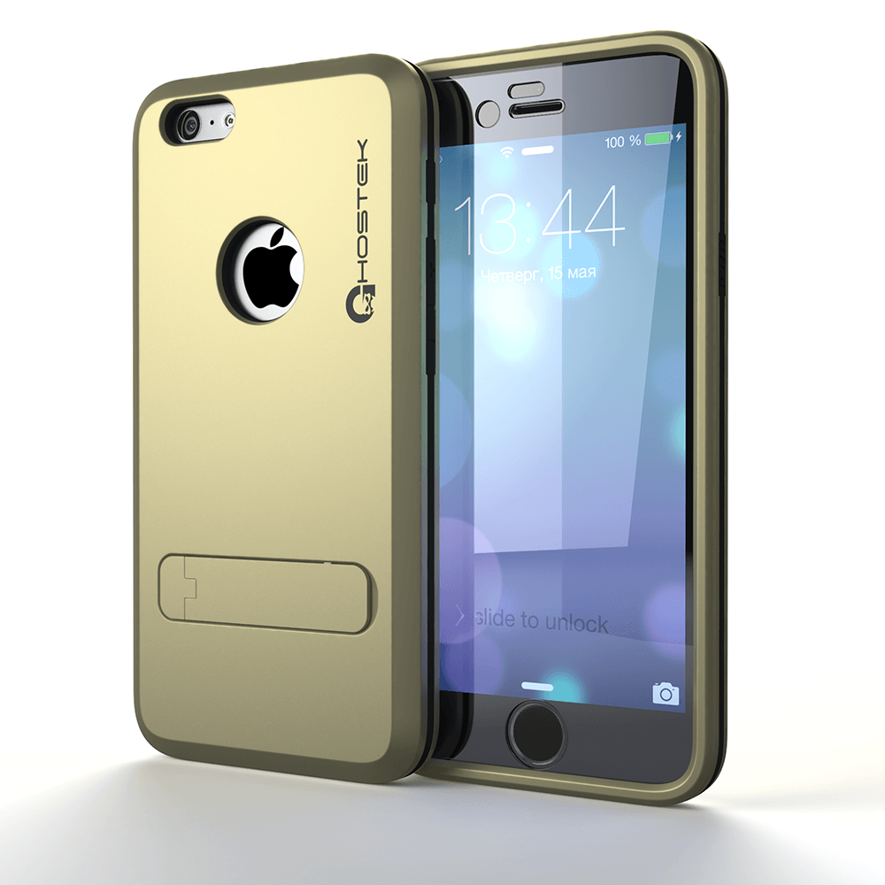 iPhone 6 Plus  Case, Ghostek bullet Gold Case W/ Attached Screen Protector - Lifetime Warranty