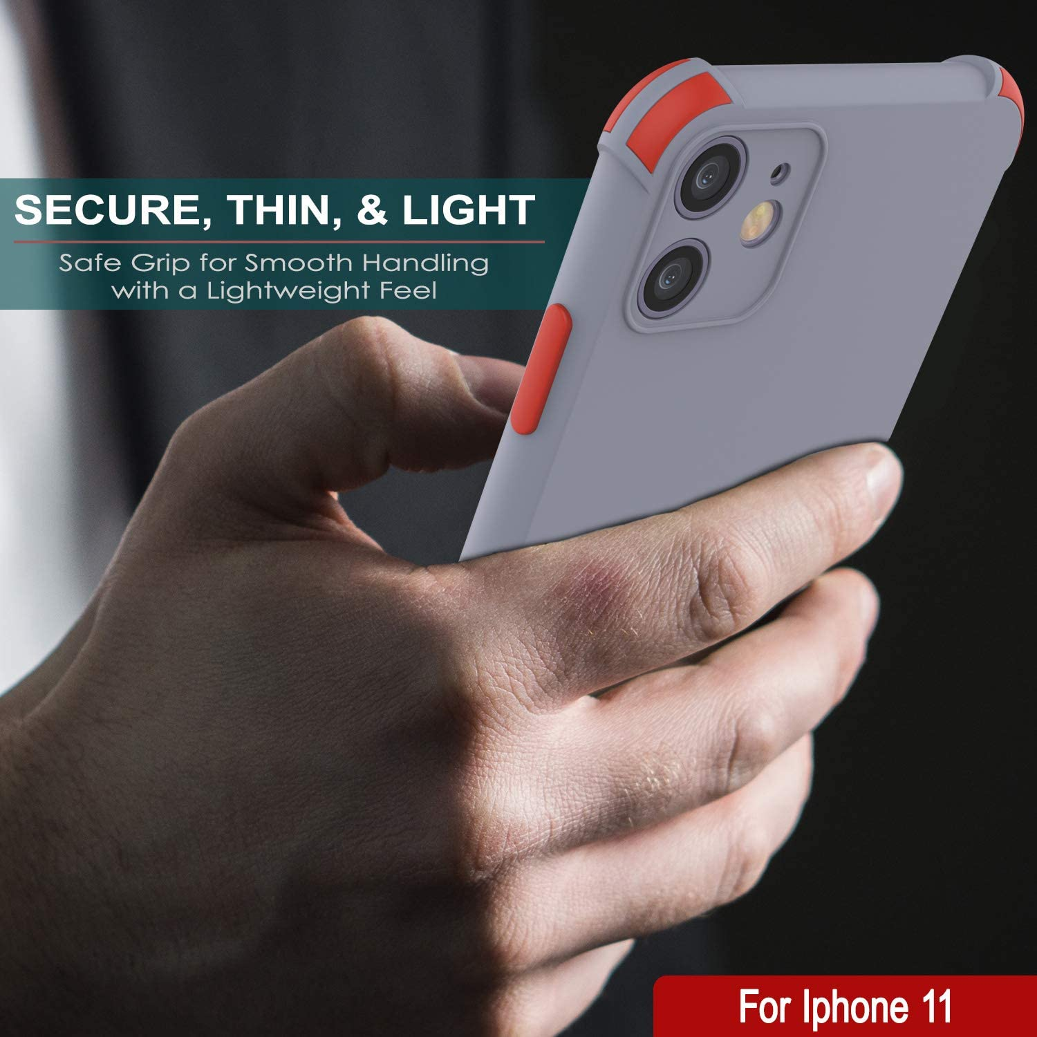 Punkcase Protective & Lightweight TPU Case [Sunshine Series] for iPhone 11 [Grey]
