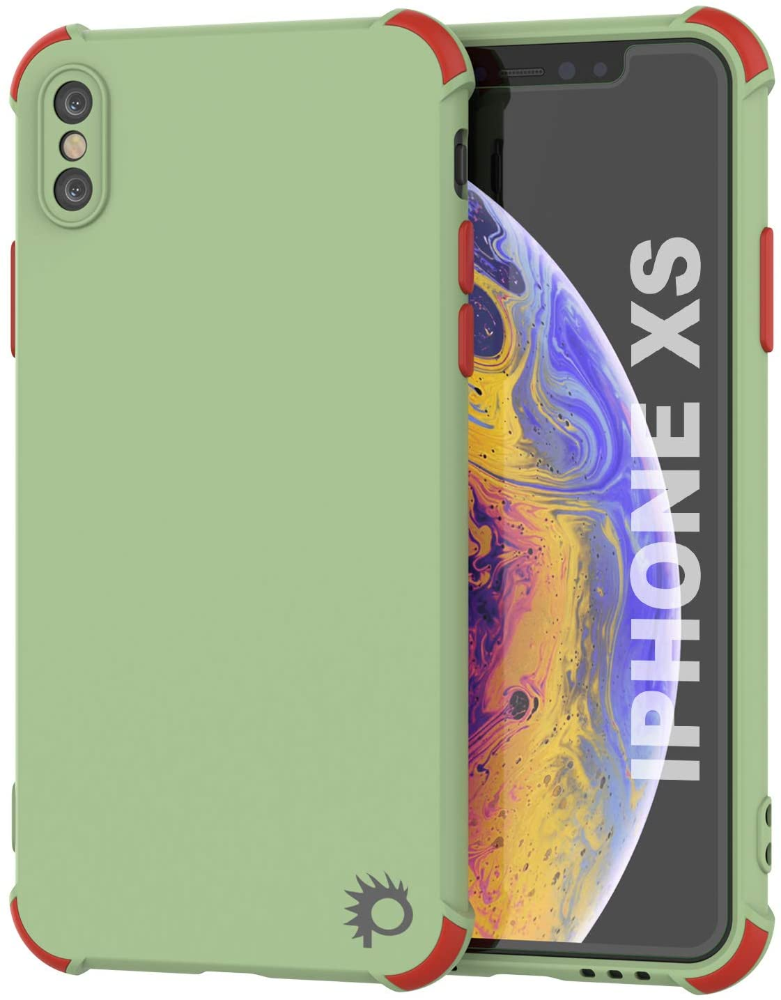 Punkcase Protective & Lightweight TPU Case [Sunshine Series] for iPhone XS [Light Green]