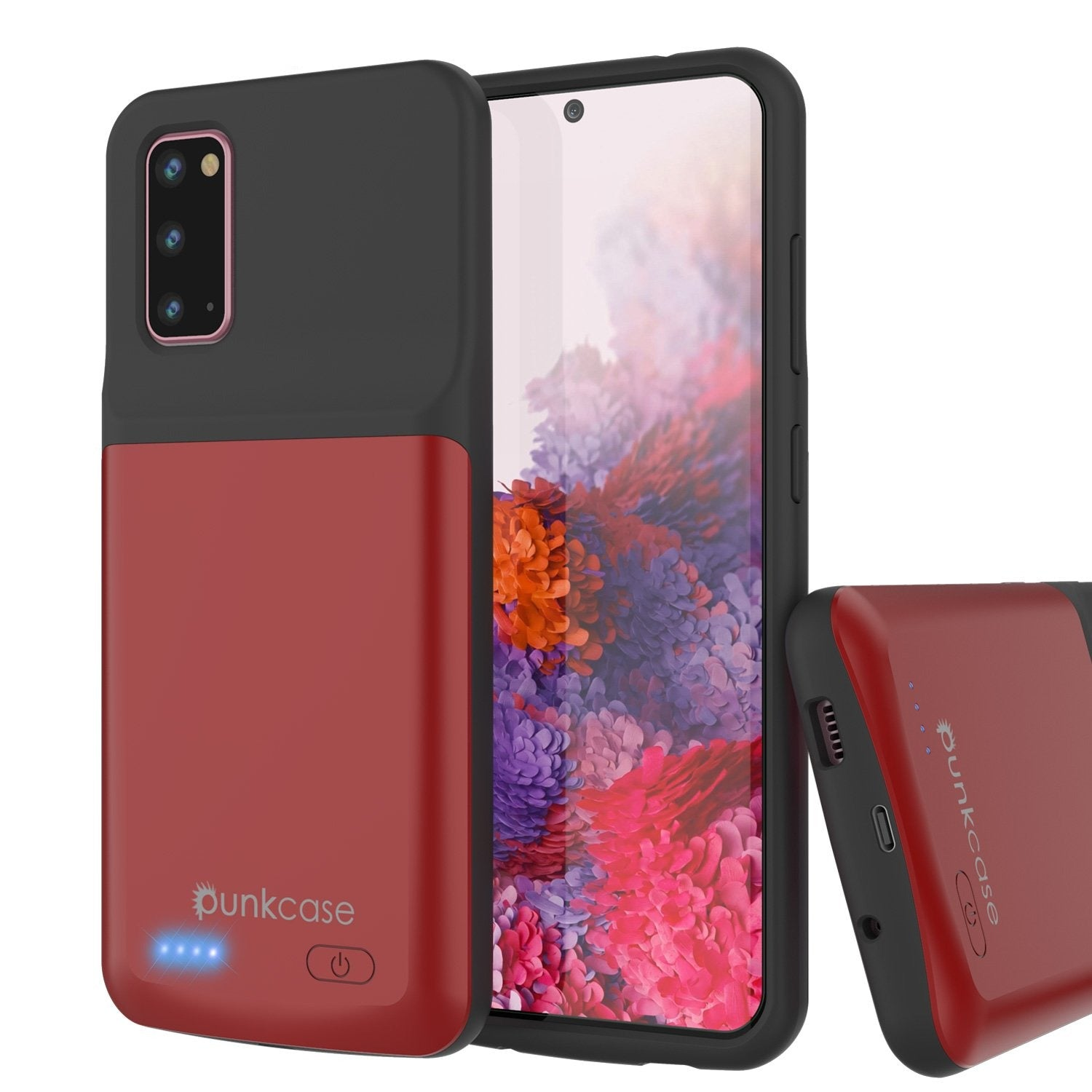 PunkJuice S20 Battery Case Red - Fast Charging Power Juice Bank with 4800mAh