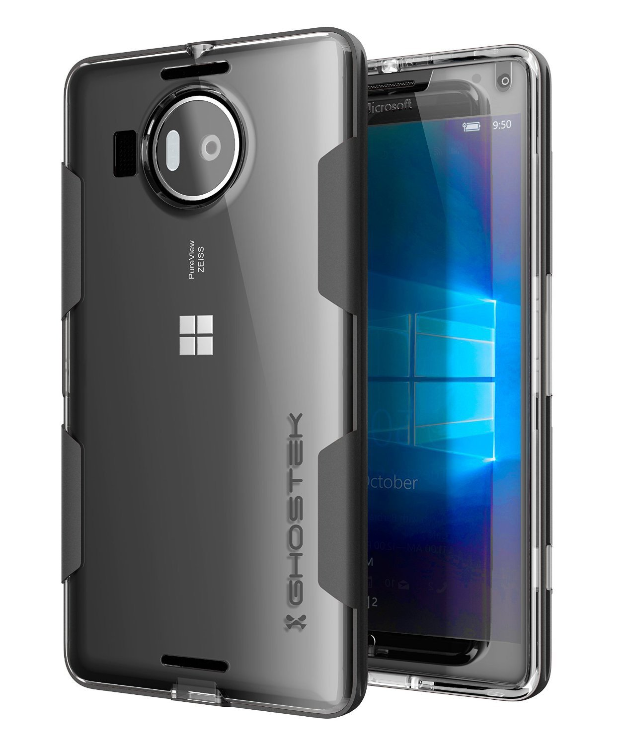 Microsoft 950 XL Case, Ghostek® Cloak Black Slim Hybrid Impact Armor | Lifetime Warranty Exchange