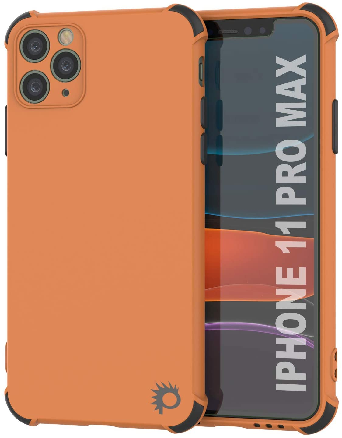 Punkcase Protective & Lightweight TPU Case [Sunshine Series] for iPhone 11 Pro Max [Orange]