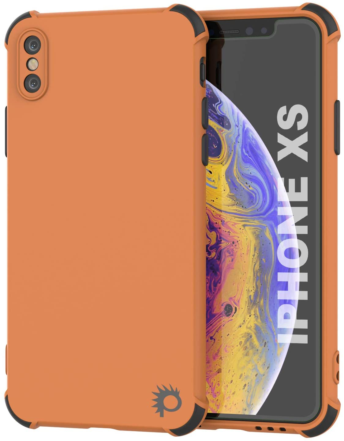 Punkcase Protective & Lightweight TPU Case [Sunshine Series] for iPhone XS [Orange]