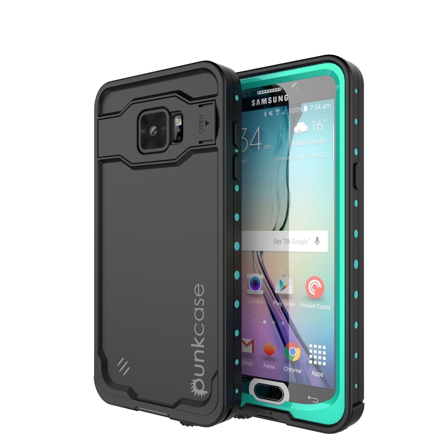 Galaxy Note 5 Waterproof Case, Punkcase StudStar Teal Shock/Dirt/Snow Proof | Lifetime Warranty