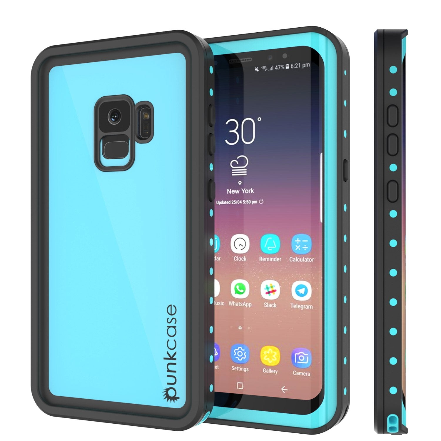 Galaxy S9 Water/Shock/Snow Proof Case | PunkCase StudStar [Teal]
