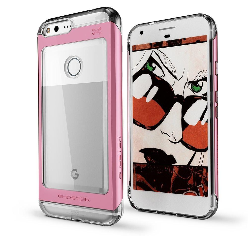 Google Pixel XL Case, Ghostek Pink 2.0 Pink Series w/ ExplosionProof Screen Protector | Aluminum Frame